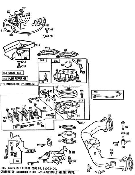 briggs carb diagram briggs and stratton 402707 0241 01 parts diagram for