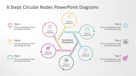 node template 6 steps circular nodes powerpoint diagrams