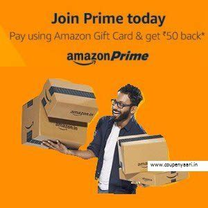 Use Amazon Gift Card For Prime Membership - amazon prime india 1 year subscription rs 50 cashback at rs 499