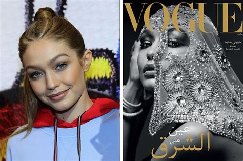 gigi hadid muslim gigi hadid wore a hijab on the cover of vogue arabia and