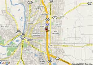 salem oregon map map of days inn salem or salem