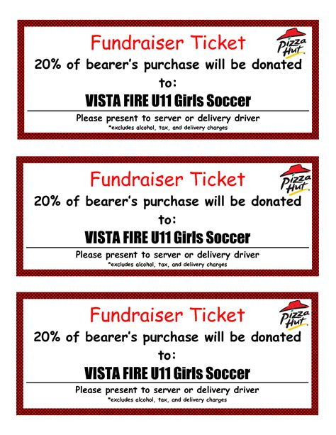 fundraiser tickets template free 8 best images of bbq tickets template chicken bbq ticket
