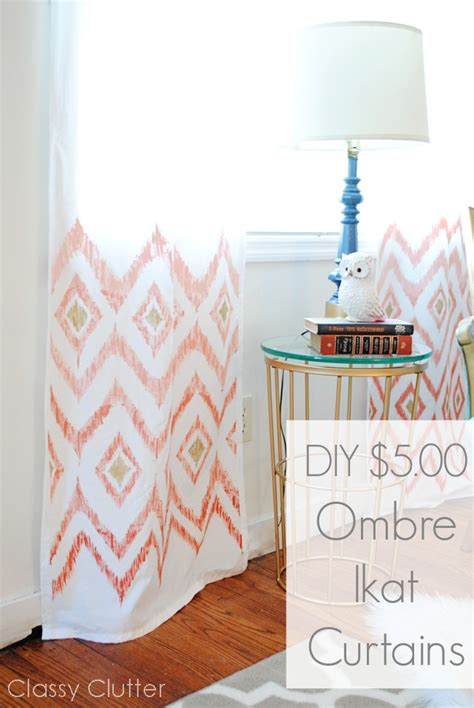 diy ombre curtains diy 5 ombre ikat curtains classy clutter