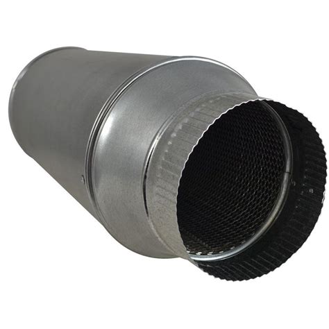 6 inch inline duct fan silencer noise reducer suncourt 6 in in line duct muffler dm106 the home depot