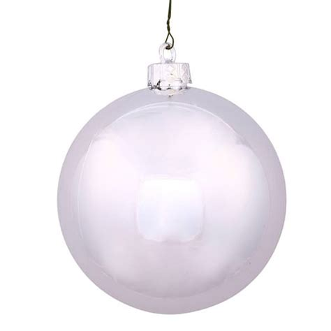 vickerman 35396 silver colored christmas tree ball ornament