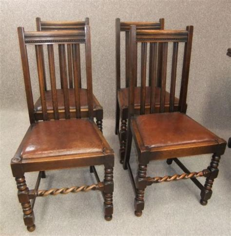 Barley Twist Chair by Barley Twist Chairs A Set Of 4 Antique Chairs In Oak