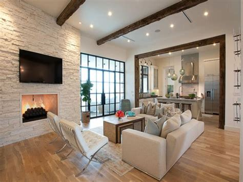 Open Plan Living Room Ideas by Brick Wall In Living Room Open Kitchen Living Room