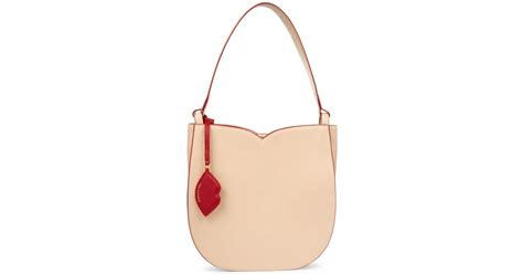 Lulu Guinness Bows Pleats Stella by Lyst Lulu Guinness Latte Cupid S Bow Large In Pink