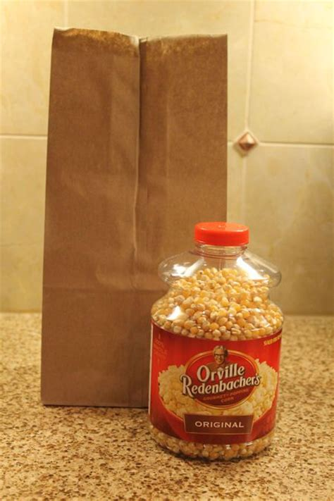 Popcorn In A Paper Bag - microwave popcorn in a brown paper bag foods