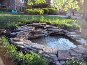 backyard pond ideas with waterfall backyard ponds on pinterest koi ponds ponds and garden