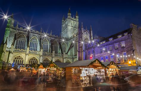 bath christmas market lights print daz smith photography