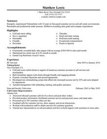 resume format 2017 for experienced thesaurus in spanish unforgettable experienced telemarketer resume exles to stand out myperfectresume