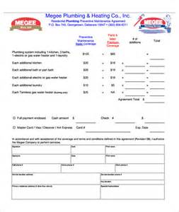 Plumbing Service Agreement Template by 7 Plumbing Contract Templates Free Word Pdf Format
