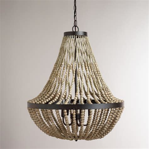 wood chandelier lighting large wood bead chandelier contemporary chandeliers