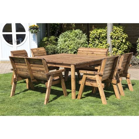 8 seat outdoor table 8 seat square table deluxe scandinavian redwood garden