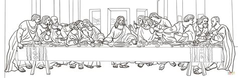 coloring pages jesus last supper the last supper by leonardo da vinci coloring page free