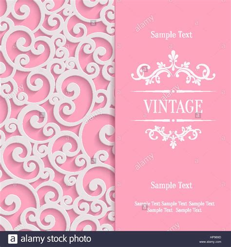 3d Valentines Card Template by Pink 3d Swirl Valentines Day Card With Floral Curl Pattern