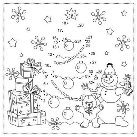 ausmalbild malen nach zahlen weihnachtsbaum kostenlos