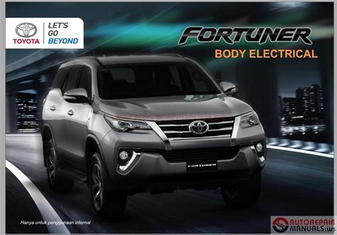 toyota fortuner electrical wiring diagram manual wiring