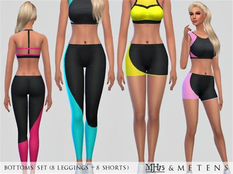 tsr sims 4 clothes sports neon sports bottoms by metens at tsr 187 sims 4 updates