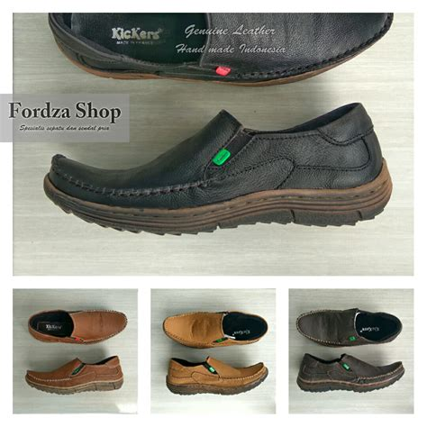 Seoatu Casual Slop Kickers Flower 2 Model Pilihan Warna 1 jual sepatu casual pria slip on kulit asli made model kickers krs01 fordza shop