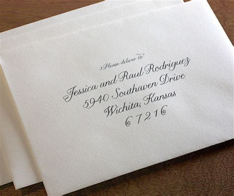Custom Envelope Addressing   letterpress wedding