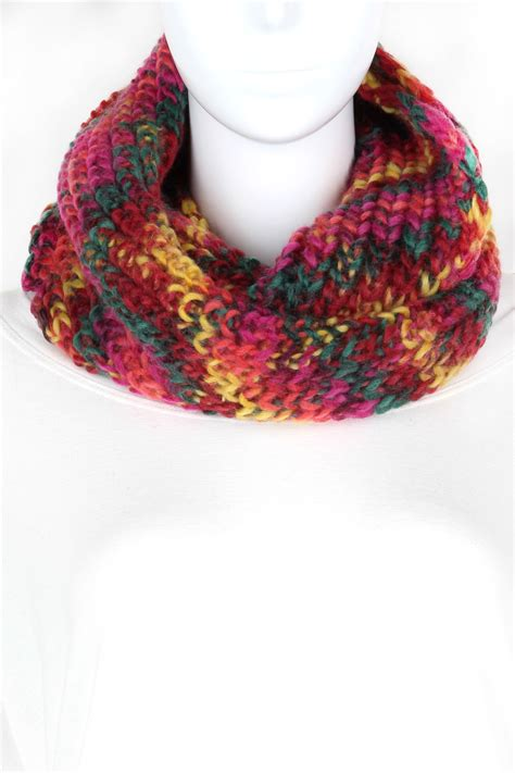 colored infinity knitted multi color infinity scarf scarves