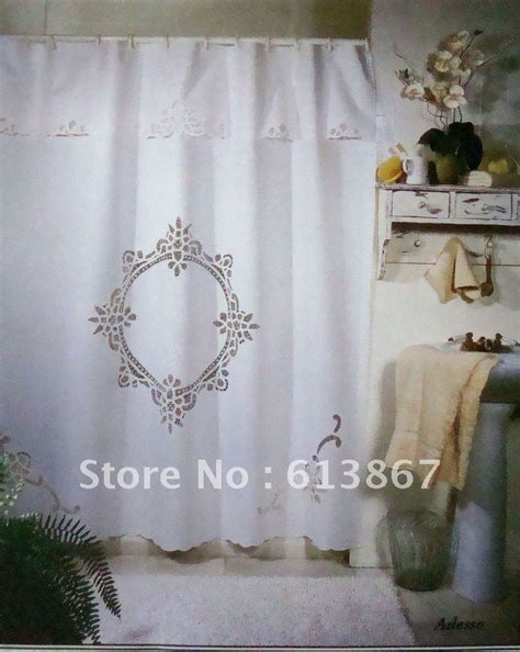 Handmade Shower Curtains - 70 quot 72 quot vintage cotton handmade battenburg lace shower