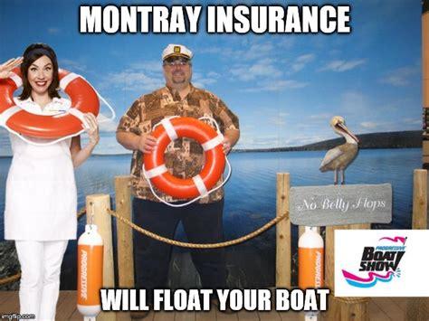 floating boat meme montray insurance imgflip