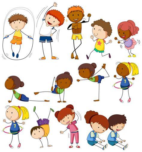 imagenes niños haciendo ejercicio fisico ni 241 os y personas haciendo diferentes ejercicios