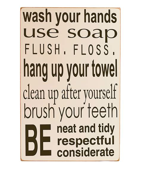 bathroom rules art cream bathroom rules wall art