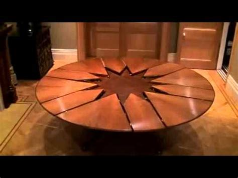 expanding round table new technology table expandable round dining table youtube