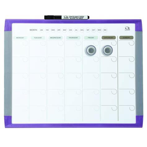 Calendar White Board Quartet 1 Month Calendar And Magnetic