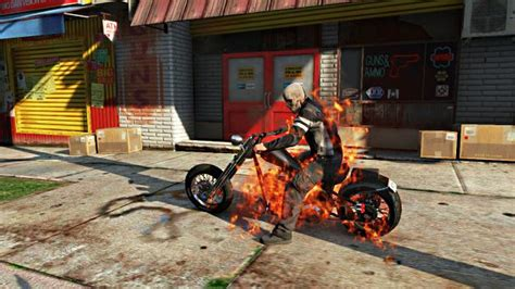mod gta 5 ghost rider no need for a mod to go ghost rider and do justice in