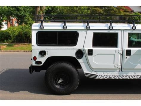 white h1 hummer purchase used white h1 hummer with 45 281 low