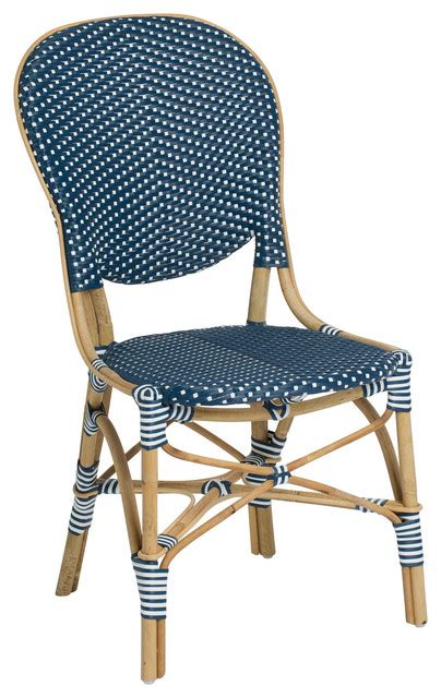 Navy Bistro Chairs Isabell Outdoor Bistro Side Chair Contemporary Outdoor Dining Chairs By Sika Design