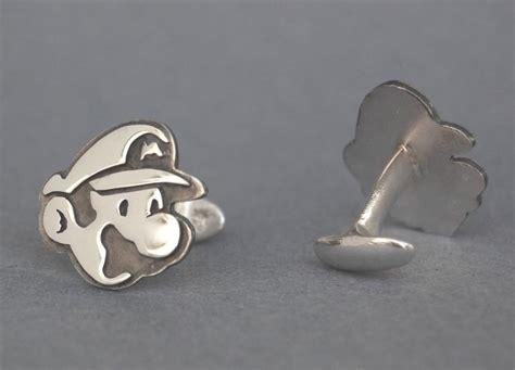 Handmade Cufflinks - handmade mario and luigi sterling silver cufflinks