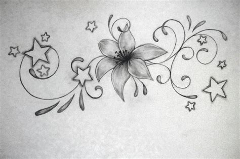 lily and stars tattoo designs 26 tattoos designs
