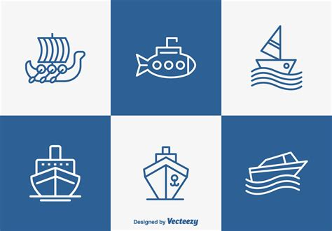 boat dock icon outlined boat and ship vector icons download free vector