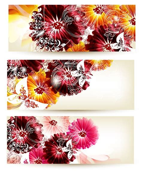 9 Best Images About Powerpoint Ideas On Pinterest Summer Backgrounds Vector Background And Flower Banner Template
