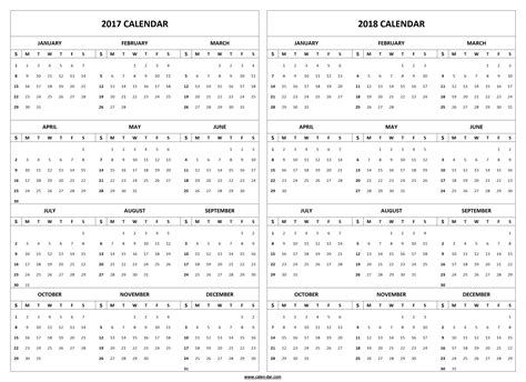 printable calendar 2017 to 2018 2017 2018 calendar printable template 2017 and 2018