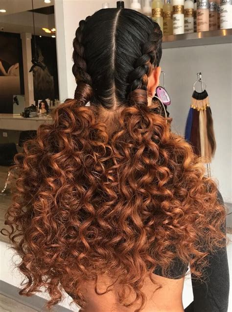 pinterest long curly fishbone tail picture with red curly hair two braids to two curly ponytails hair skin and nails