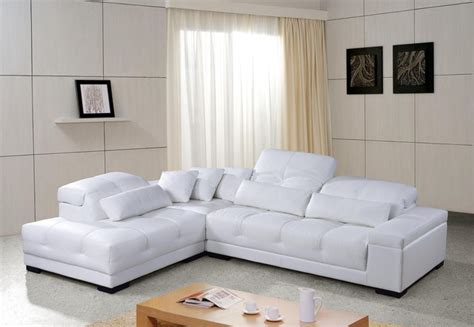 White Leather Sectional Sofas Modern White Leather Sectional Sofa Plushemisphere
