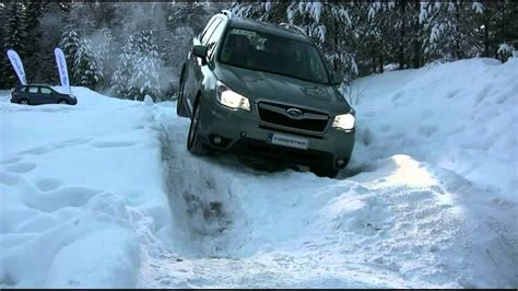 subaru winter 2013 subaru forester winter off road test x mode youtube