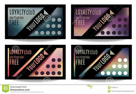 customer rewards card template customer loyalty card templates stock vector image