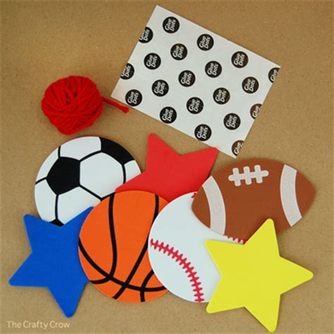 sports themed crafts for easy sports decorations favors things to make