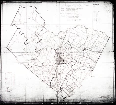 houston map black and white cities historical maps perry casta 241 eda map