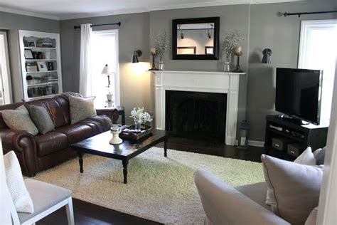 grey and brown living room living room brown couch gray walls may be too dark