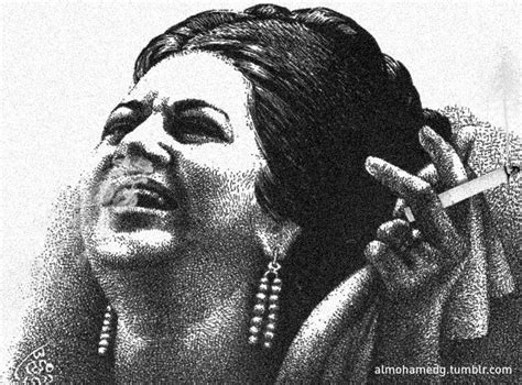 om kolthom om kalthoum smoking by mohamed mousa design pinterest