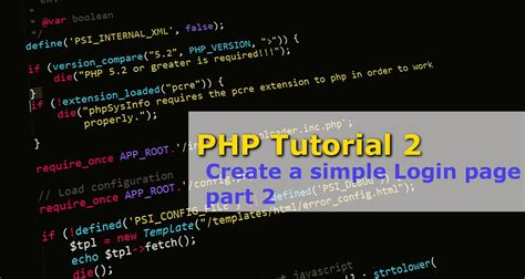 construct 2 facebook tutorial php tutorial 2 create a simple login page part 2